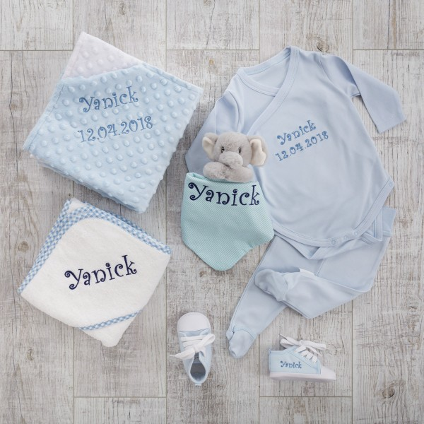 "6 piece set ""Welcome Baby"", Blue"